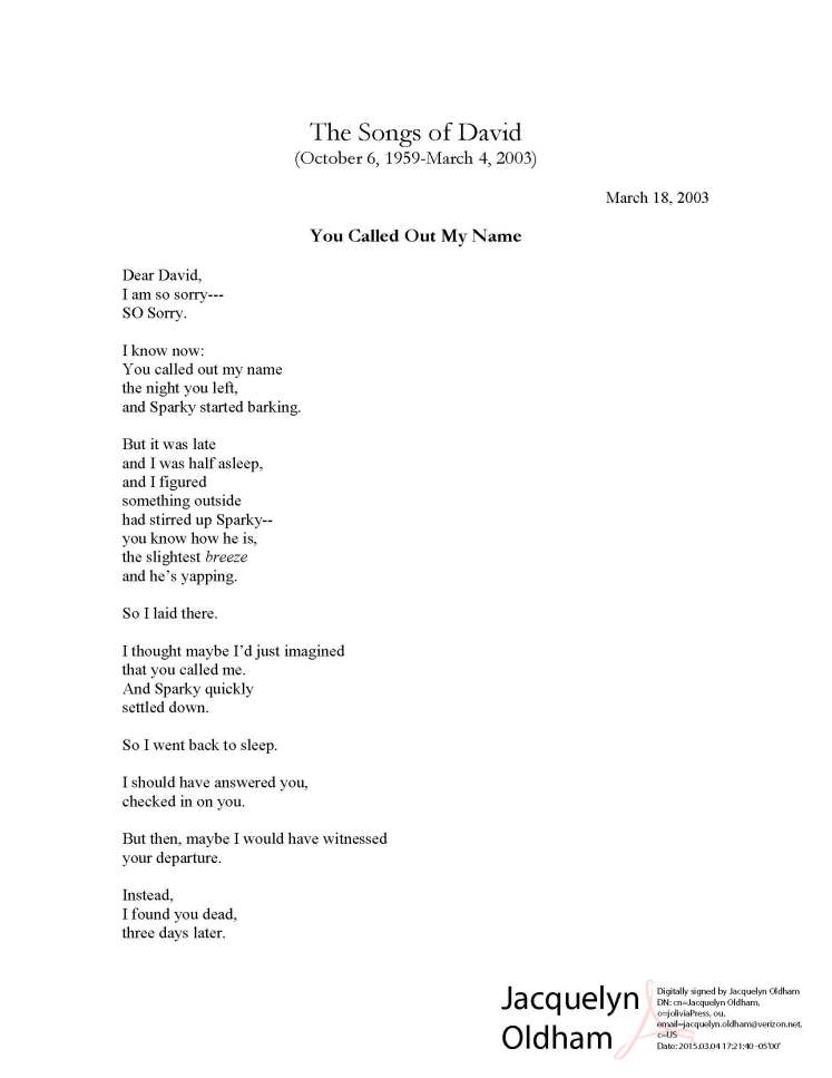 Mourning Songs 4