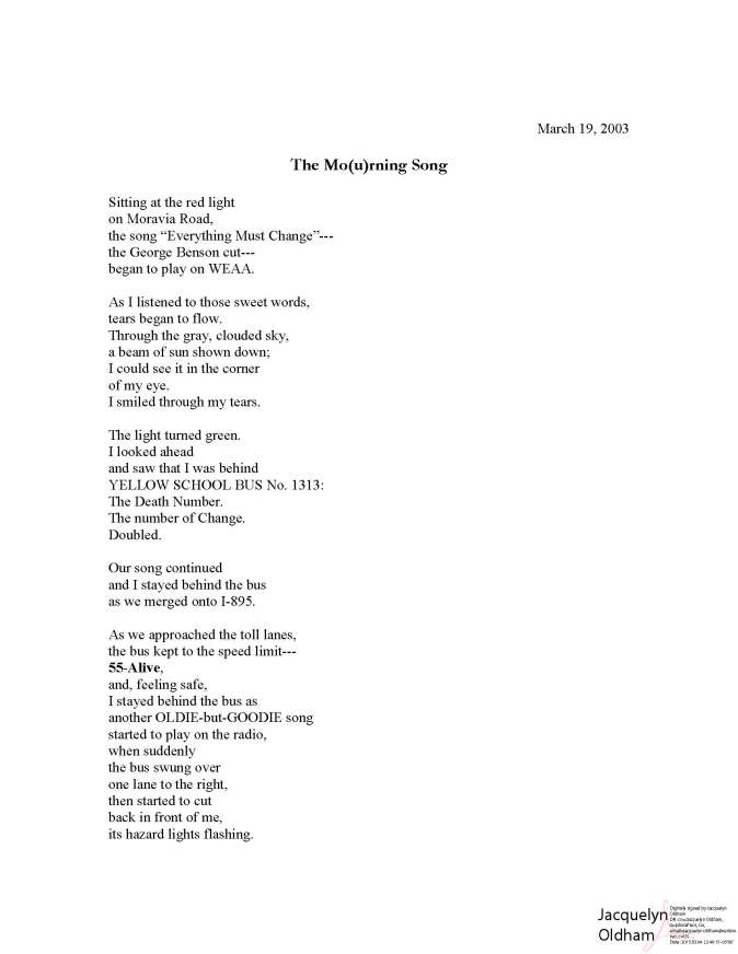 Mourning Songs 5